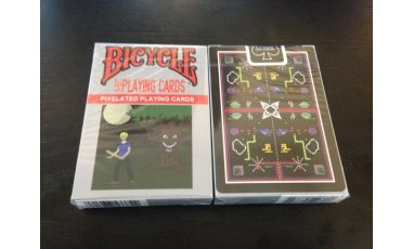 8-Bit Black Playing Cards Cartes Deck