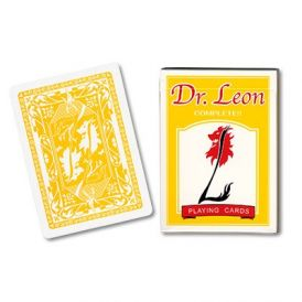 Dr. Leon Deck Yellow Playing Cards