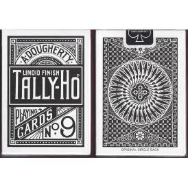 Tally-Ho Black Circle Back Playing Cards