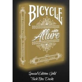 Bicycle White Allure Special Edition Gold Cartes