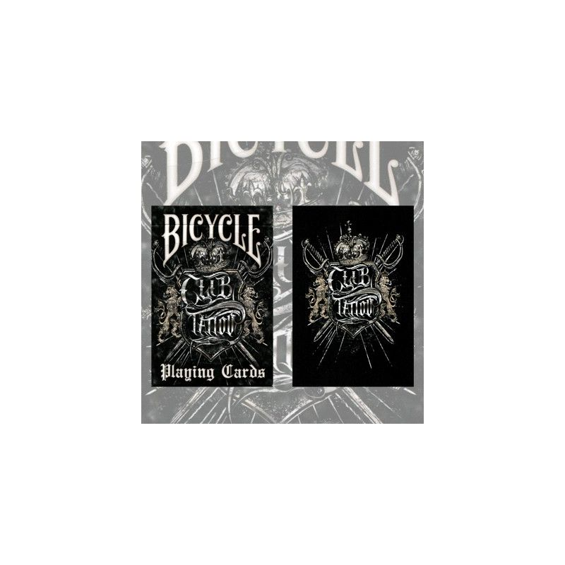 bicycle club tattoo deck cartes playing cards cartes magie