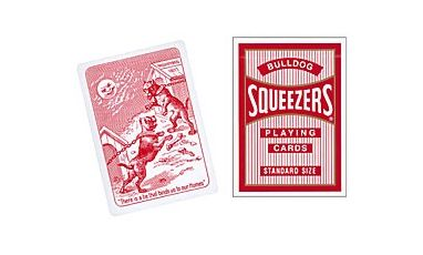 Bulldog Squeezers Red Deck Cartes Playing Cards