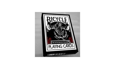 Black Tiger Red Pips Playing Cards Deck