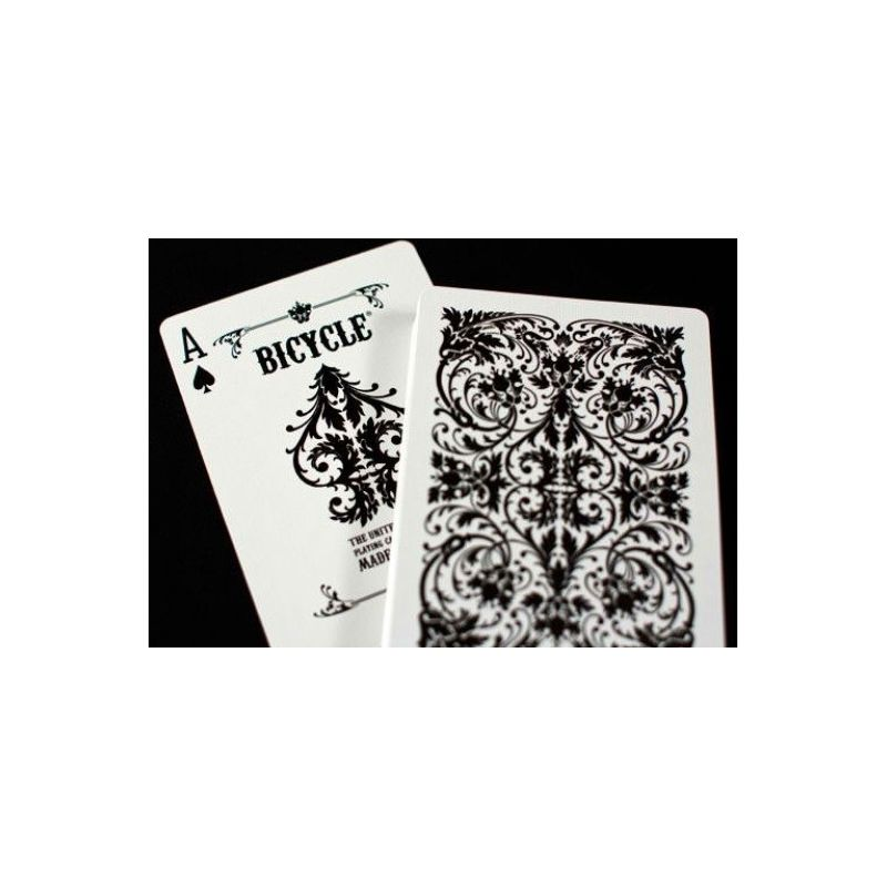 bicycle nautic white playing cards deck cartes magie