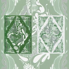 Floral Green Deck Cartes