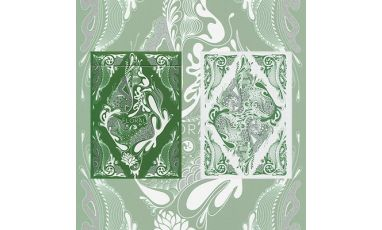 Floral Green Deck Cartes Playing Cards