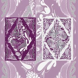 Floral Purple Deck Cartes