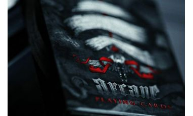 Red Arcane Cartes Deck Playing Cards