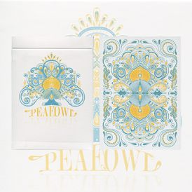 Peafowl White Deck Playing Cards