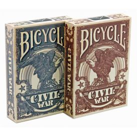 Bicycle Civil War Red Cartes Deck Playing Cards