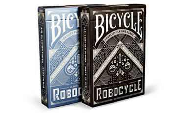 Bicycle Robocycle Black Cartes Deck Playing Cards