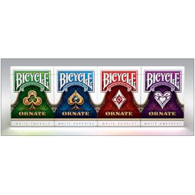 Bicycle White Ornate Set Cartes Deck Playing Cards