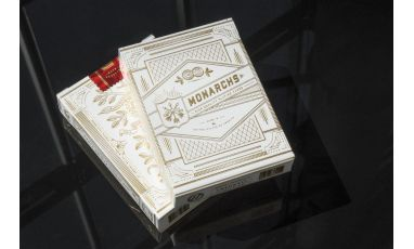 White Gold Monarchs V2 Cartes Deck Playing Cards