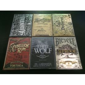 Prohibition 6 Decks Boxed Set Cartes Playing Cards