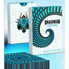 Draconian Lightning Blue Deck Playing Cards