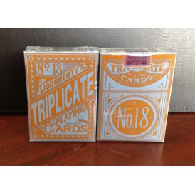 Triplicate Blue Standard 2nd Edition Deck Playing Cards