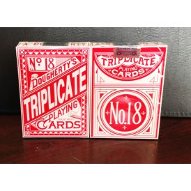 Triplicate Red Standard 1st Edition Cartes Deck Playing Cards