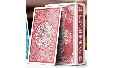 SiShou Four Beasts Red Deck Playing Cards
