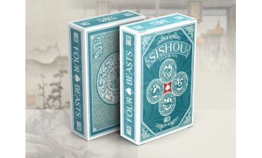 SiShou Four Beasts Blue Deck Cartes Playing Cards