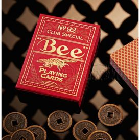 Golden Bee Red Cartes Deck Playing Cards