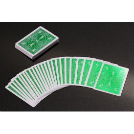 Bicycle Rider Back Foil Green Cartes Deck Playing Cards