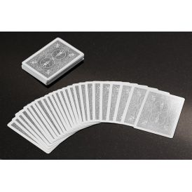 Bicycle Rider Back Foil Silver Cartes Deck Playing Cards