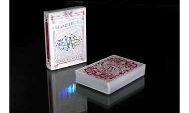 Chameleons Metallic Red Deck Playing Cards