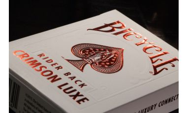 Bicycle MetalLuxe Crimson Luxe Red Deck Playing Cards