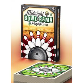 Midnight BOWL-A-RAMA Bowlarama Black Deck Playing Cards