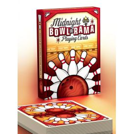 Midnight BOWL-A-RAMA Bowlarama Red Deck Playing Cards
