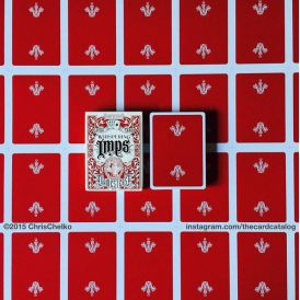 Whispering Imps Gamesters Red Cartes Deck Playing Cards