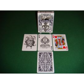 Split Spades Lions Black 1st Edition Playing Cards