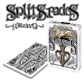 Split Spades Lions Sepia 1st Edition Playing Cards