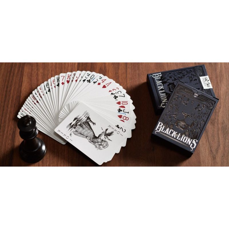 Black Lions Deck Playing Cards Cartes Magie