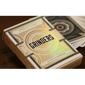 Grinders White Gold Deck Playing Cards