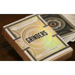 Grinders White Gold Cartes Deck Playing Cards