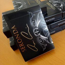 Seasons Playing Cards Seronda Black GOLD AUTOGRAPHED