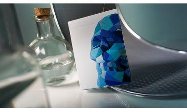 Memento Mori Blue Deck Playing Cards