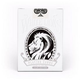 White Lions Tour Black Deck Playing Cards