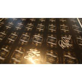 Gold Arcane Uncut Sheet Signed
