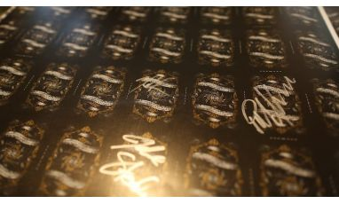 Gold Arcane Uncut Sheet Signed
