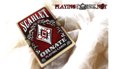 Ornate Deck Scarlet (Red) Cartes