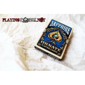 Ornate Deck Sapphire (Blue) Playing Cards