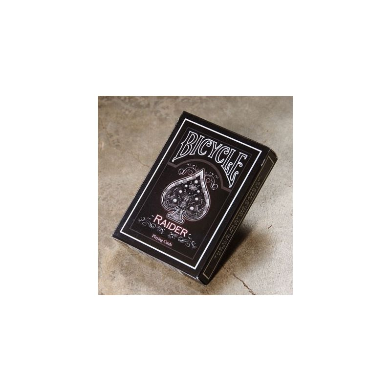 bicycle raider black playing cards deck cartes magie