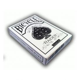 Bicycle Raider White Playing Cards