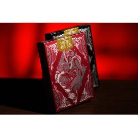 Floral Red Cartes Playing Cards