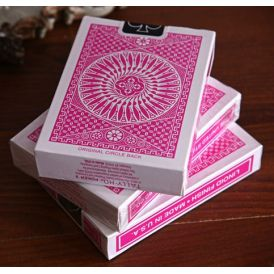 Tally-Ho Pink Playing Cards
