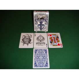 Split Spades Lions Blue 1st Edition Playing Cards