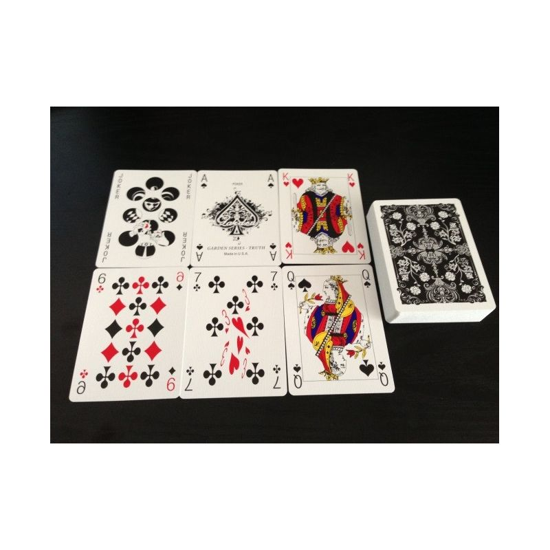 bicycle truth garden 03 black deck playing cards cartes