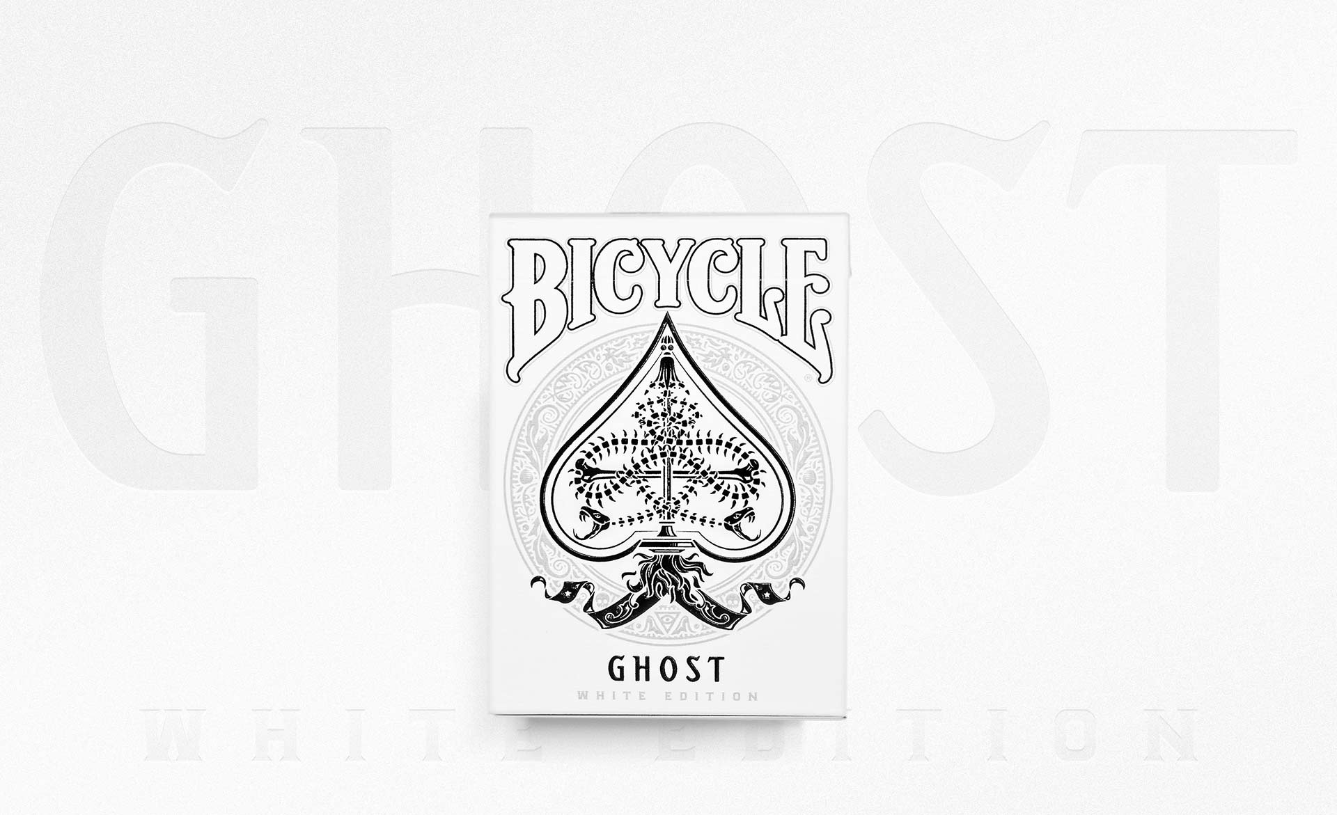 Ghost Deck Legacy White Playing Cards - Cartes Magie